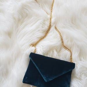 Velvet Teal Mini Crossbody Bag
